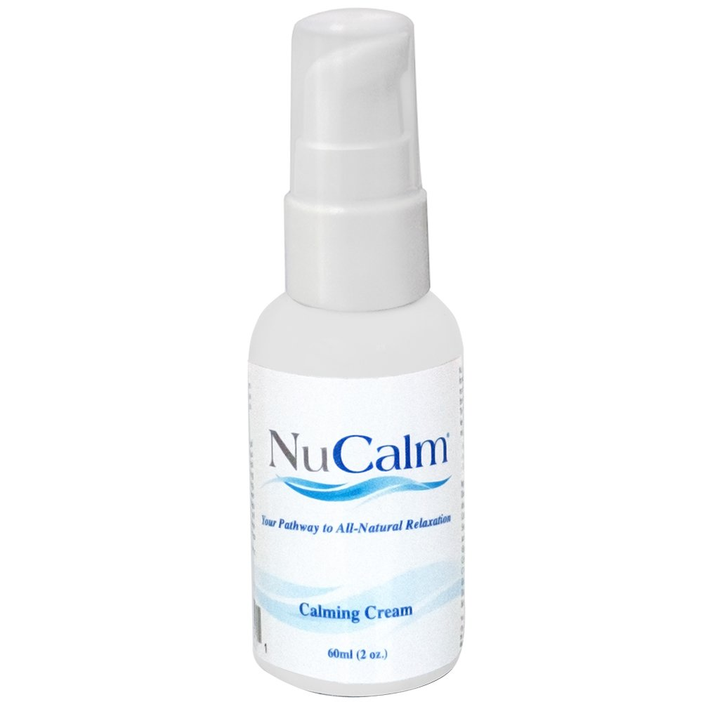 Solace Lifesciences NuCalm Calming Cream Refill (2.0 oz) - Relieves & Lowers Stress Quickly - FAST ACTING Cream For Calming & Relaxation - 100% Natural Active Ingredients Stress Relief Cream