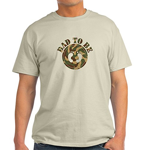 CafePress Dad to Be (Camo) Ash Grey T-Shirt 100% Cotton T-Shirt ()