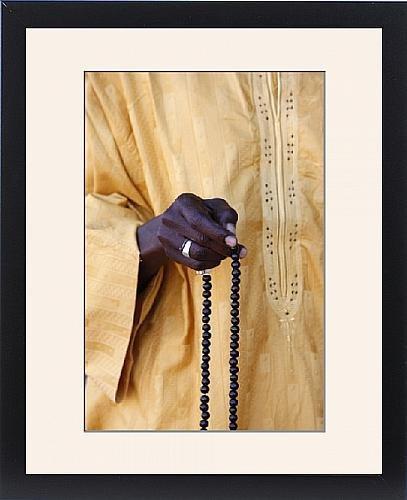 Framed Print of Muslim with prayer beads, Abene, Casamance, Senegal, West Africa, Africa by Robert Harding