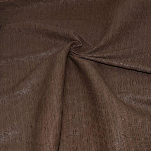 Genuine Lambskin Leather Hide Embossed Milk Brown PB261.07