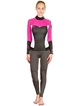 e901f078f6 Roxy ARJW103008 Womens Syncro 4 3mm Full Back Zip Wetsuit