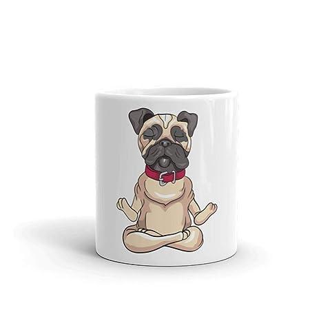 Amazon.com: Meditating Pug Meditation Yoga Zen Dog Ceramic ...