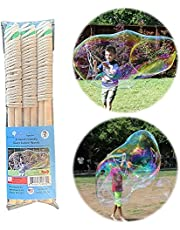 Bubbleventi Giant Bubble Wands | 3-Pack of Eco-Wands | Made in USA | Perfect for Kids' and Planet | Use at Birthdays and for STEM/Family Fun