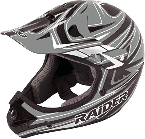 Raider 55-564G-17 Rush Adult MX Off-Road Helmet, Grey (XX-Large) ()