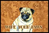Caroline's Treasures Fawn Pug Wipe Your Paws Indoor or Outdoor Mat, 18'' x 27'', Multicolor