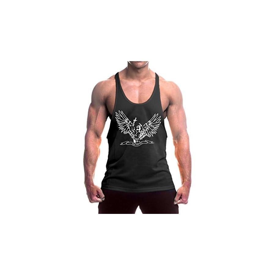 InleaderStyle Men's Cotton Fitness Wing Logo Tank Tops Stringers