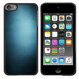 Qstar Arte & diseño plástico duro Fundas Cover Cubre Hard Case Cover para Apple iPod Touch 6 6th Touch6 (Pendiente azul)