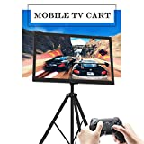 "Portable TV Stand Plasma LCD TV Cart Mobile with Tripod Legs for 32"" to 55"" Flat Panel TV, Height Adjustable"