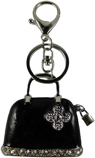 Schlüsselanhänger Handtasche GLITZER Strass