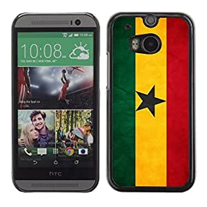 Shell-Star ( National Flag Series-Ghana ) Snap On Hard Protective Case For All New HTC One (M8)