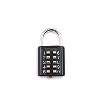 Toolbox hasp Cabinet and Storage Digits Combination Lock Push-Button Anti-Rust and Weatherproof Combination Locks Padlock for Gym or Sports Locker case Fence