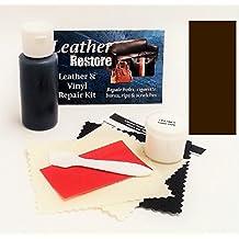 Air Dry Leather & Vinyl Repair Kit ESPRESSO VERY DARK BROWN Color Repair Restore Couch Car Jacket Furniture Shoes Purse