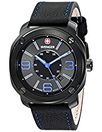 Wenger 01.1051.105 Escort Analog Display Swiss Quartz Black Watch for Men