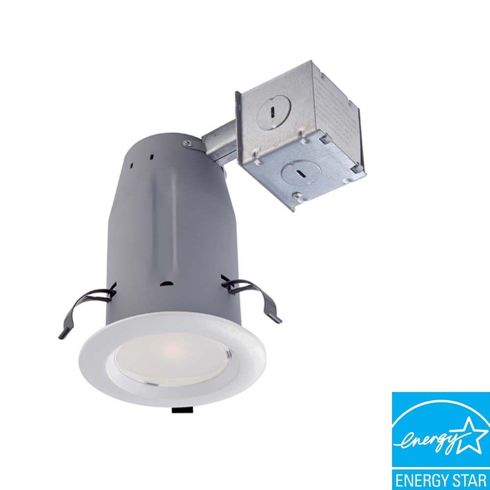 Commercial Electric (4-Pack 3 in. White LED Recessed Baffle Kit CER3LICR3730WH