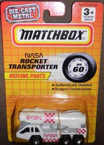 1993 MATCHBOX MB60 WHITE NASA ROCKET TRANSPORTER WITH MOVING PARTS by (Transporter Matchbox)