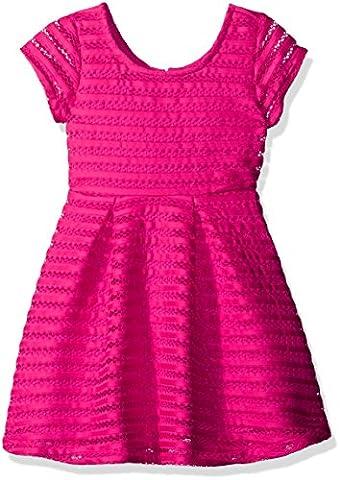 The Children's Place Little Girls' Short Sleeve Plaid Dress, Pink, X-Small/4 - Together Short Sleeve Dress