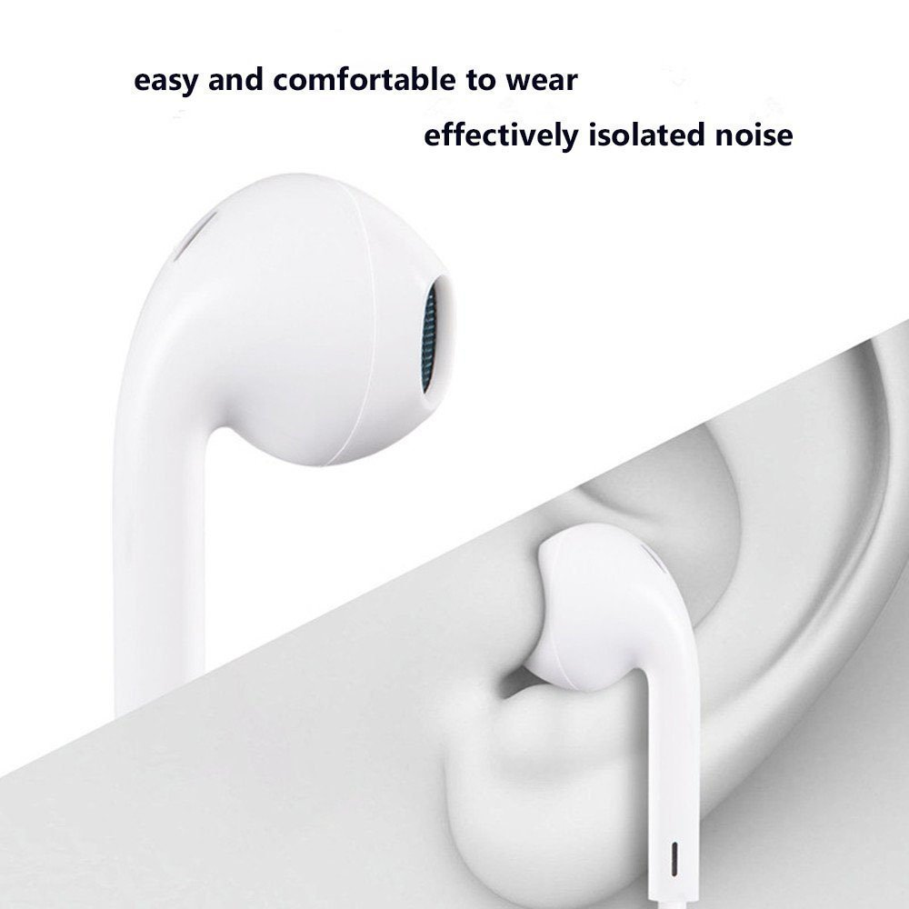 Earphones,With Microphone Earbuds Stereo Headphones and Noise Isolating headset Made for iPhone 7/7 Plus iPhone8/8Plus iPhone X (Bluetooth Connectivity) Earphones