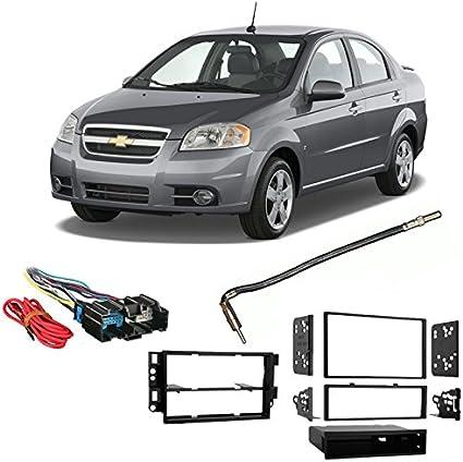 Amazon.com: Compatible with Chevy Aveo Sedan 2007-2008 Single ... 2009 chevy hhr radio wiring harness Amazon.com