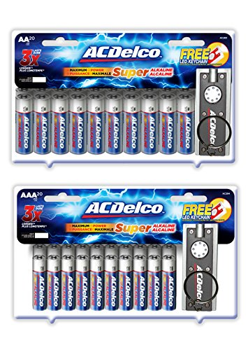 atteries, Alkaline Battery, 20 Count Each Pack ()