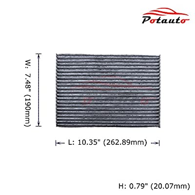 POTAUTO MAP 3012C Heavy Activated Carbon Car Cabin Air Filter Replacement compatible with NISSAN, Rogue, Rogue Select, Sentra: Automotive