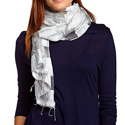 Cardigan Silk Harrison - KC Signatures Sheer 100% Pure Silk Georgette Plush Solid Scarf Shawl - 20