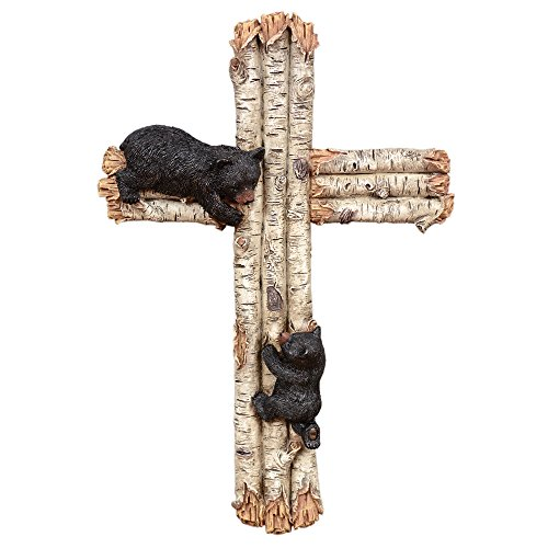 Cheap Black Bears Birch Wall Cross