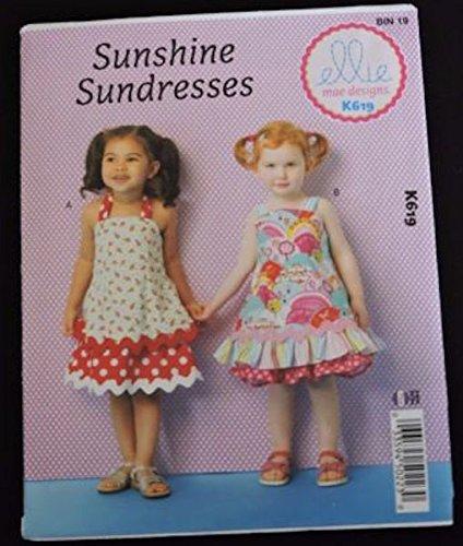 (Sunshine Sundresses ellie mae designs K619 Pattern Toddlers' Dresses)