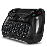 PS4 Wireless Mini Bluetooth Keyboard – Keypad Gamepad Joystick Text Messager Chatpad Adapter for Sony Playstation 4 PS4 Gaming Controller Black [Playstation 4] Review