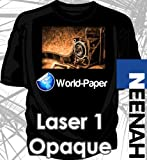 LASER TRANSFER PAPER FOR DARK FABRIC: NEENAH ''LASER 1 OPAQUE'' (11''x17'') 25Pk :)