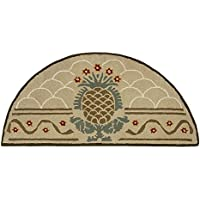 Minuteman International Hospitality Wool Hearth Rug, Half Round