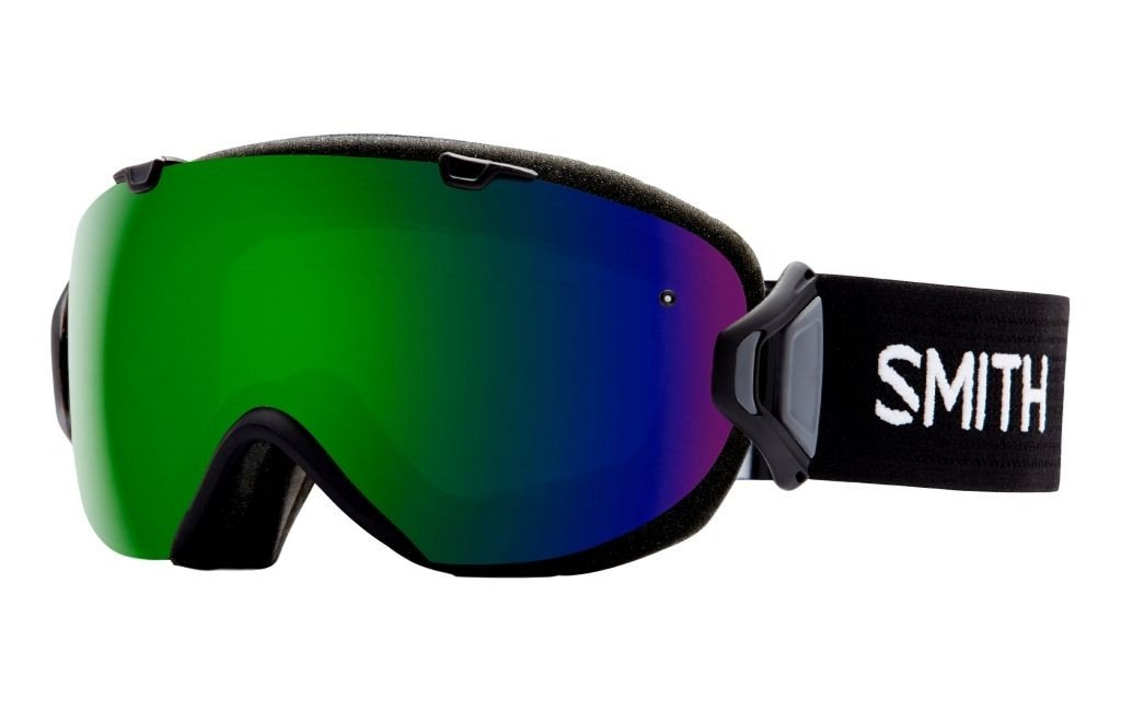 Smith Optics I/OS Adult Snowmobile Goggles Eyewear Black / Chromapop Sun