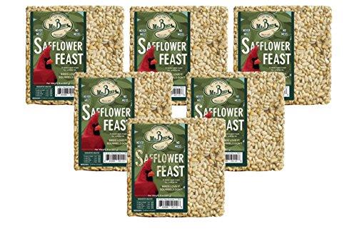 (Mr. Bird 6-Pack Safflower Feast Small Wild Bird Seed Cake 8 oz.)