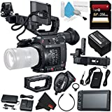 Canon EOS C200 EF Cinema Camera #2215C002 (International Model) + 256GB SDXC Card + Professional 160 LED Video Light Studio Series + Deluxe Cleaning Kit + MicroFiber Cloth Bundle