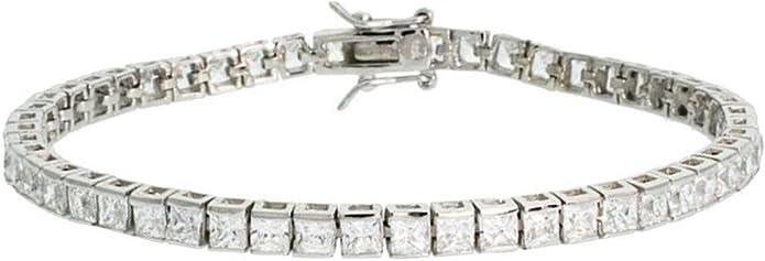 Women/'s 925 Sterling Silver 1 2ctw Round Diamond Tennis Bracelet 7.5