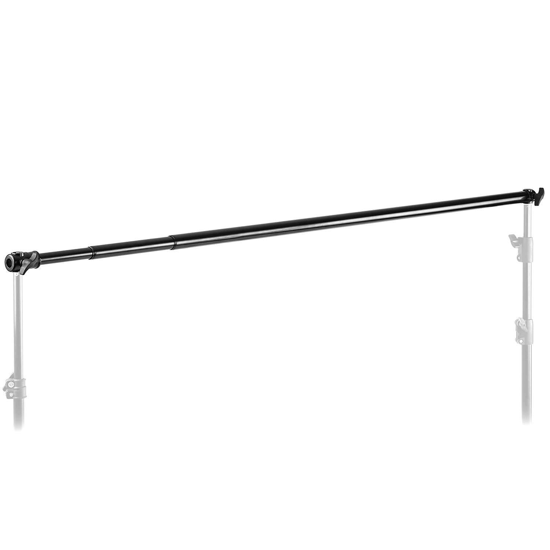 Neewer Pro 10 Feet/3M Aluminum Alloy 3 Section Telescopic Background Support Cross Arm Crossbar(Black)