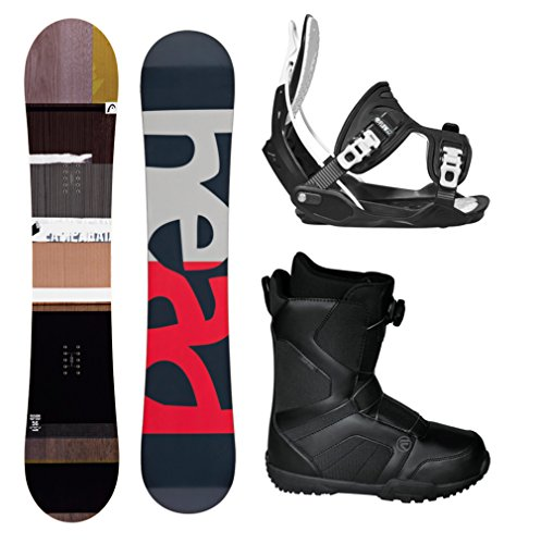 HEAD Fusion Legacy Men's Complete Snowboard Package Bindings BOA Boots - Board Size 156