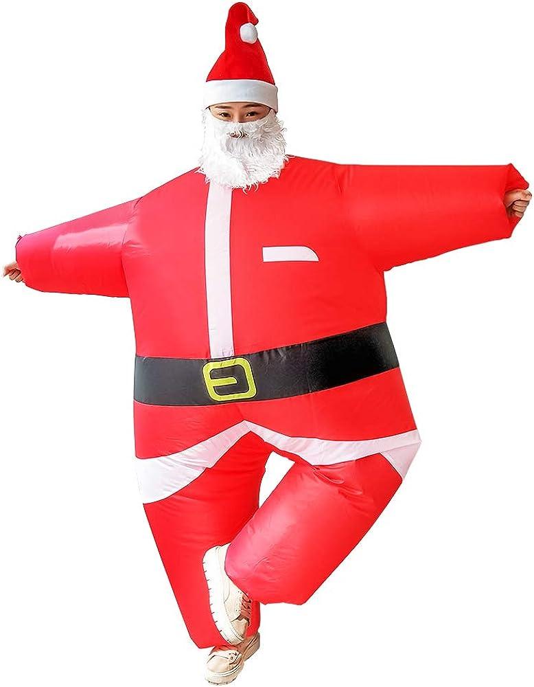 Amazon.com: Warmoor - Traje de Papá Noel inflable, unisex ...