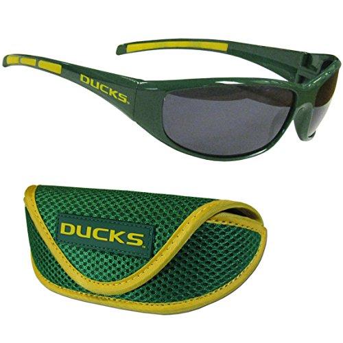 NCAA Oregon Ducks Wrap Sunglasses & Sport Case, - Sunglasses U O Of