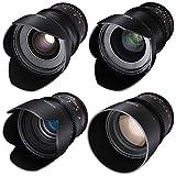 ROKINON CINE DS T1.5 Cinema Lens Kit - 50mm + 35mm + 85mm + 24mm (Sony E-Mount)