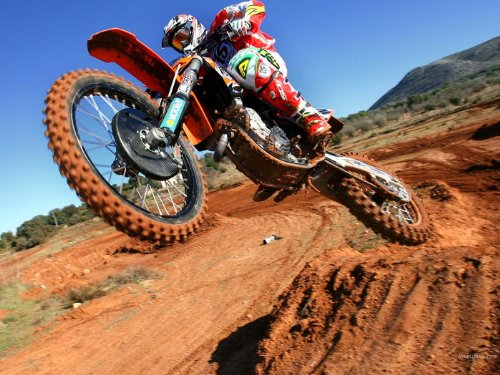 Jump Mud Dirt Motocross Bike Motorcycle Print Poster