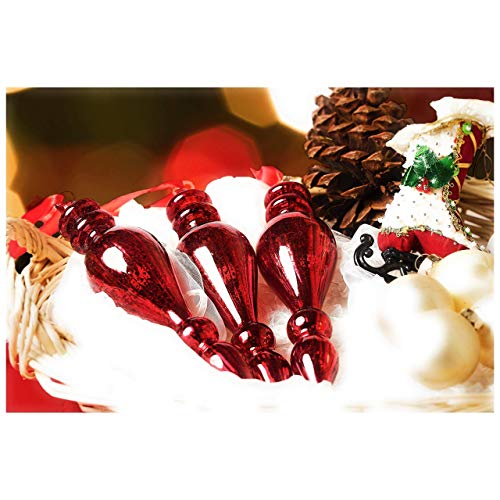 Vintage red glass ornaments