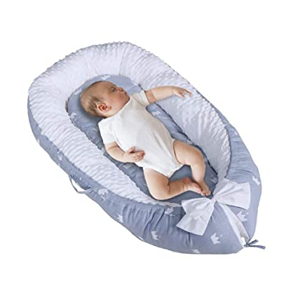 100/% Cotton Cribs /& Cradles Mattress Cushion Sleep Nest Portable Super Soft and Breathable Newborn Infant Bassinet Cocoon Snuggle Bed for Bedroom Travel Baby Lounger