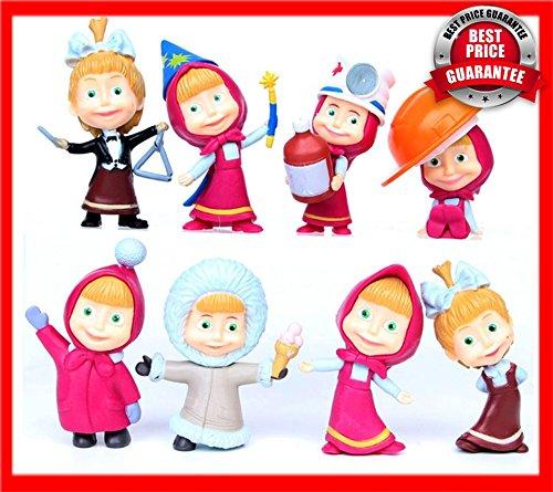 8pcs/set 5cm Masha Bear PVC Action Figures Toys for Children Gifts - Figure Bear Pvc