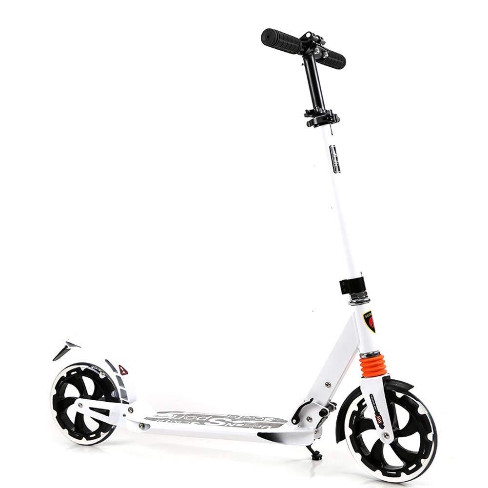 超美品 スクーターを蹴る子供たち スクーター、ショックアブソーバースクーター、折りたたみスクーター (色 B07R51K812 : 白 ブラック) B07R51K812 : 白 白, DOI sports:c080fe19 --- 4x4.lt
