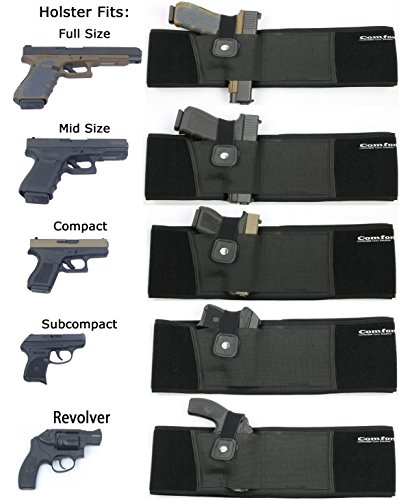 Hunting Ultimate Belly Band Holster for Concealed Carry Fits Gun