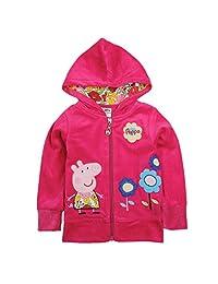 Novatx Peppa Pig Beautiful Girl's Kid's Hoody Sweater Jacket 1-6Y