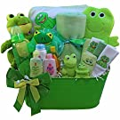 Art of Appreciation Gift Baskets My Little Pollywog Bath Time Fun For Baby Gift Basket, Neutral Boy or Girl