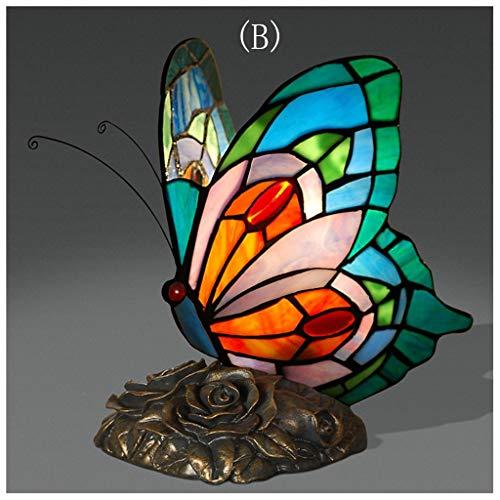 YYF Retro Butterfly Shaped Study Desk Lamp - Dreamy Warm Vintage Romance (Color : B)