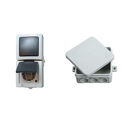wechselschaltung mit steckdose und abzweigdose wiring. Black Bedroom Furniture Sets. Home Design Ideas