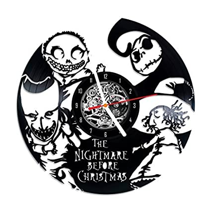 nightmare before christmas characters design vinyl record wall clock unique gifts for him her gift ideas - Nightmare Before Christmas Characters